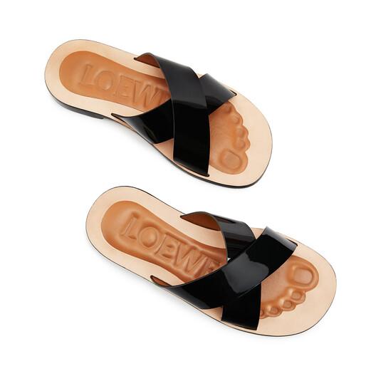 LOEWE Criss Cross Foot Sandal Negro front