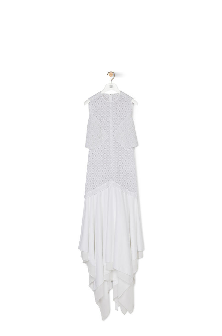 LOEWE Sleeveless broderie dress in cotton White pdp_rd