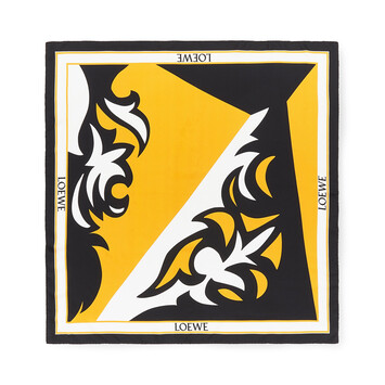 LOEWE 90X90 Scarf Puzzle Western Yellow front