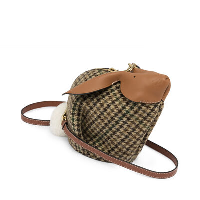 LOEWE Bunny Tweed Mini Bag Cypress/Tan/White front
