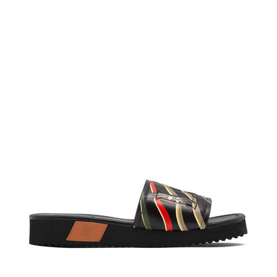 LOEWE Loewe Slide Paula Flags Black/Multicolor front