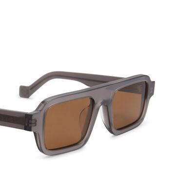 LOEWE Square Sunglasses 灰色 front