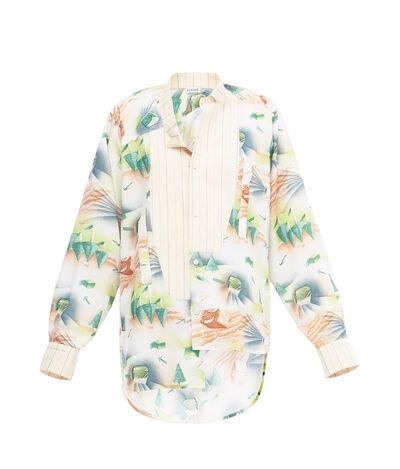 LOEWE Forest Asymmetric Shirt Ecru/Multicolor front