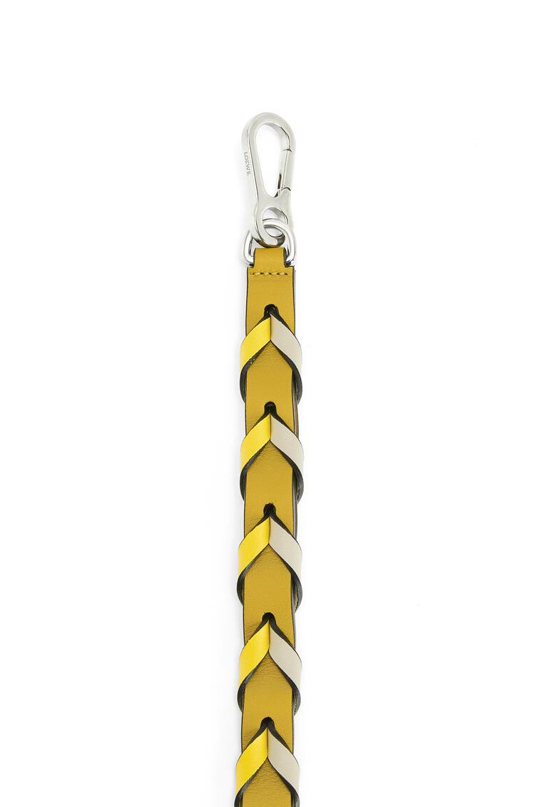 LOEWE Thin Braided strap in classic calfskin Ochre/Yellow pdp_rd