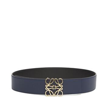 LOEWE Anagram 4公分皮帶 Black/Navy/Gold front