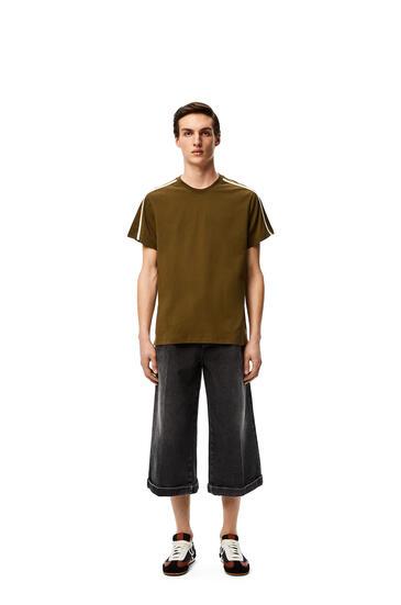 LOEWE Anagram embroidered t-shirt Khaki Green pdp_rd