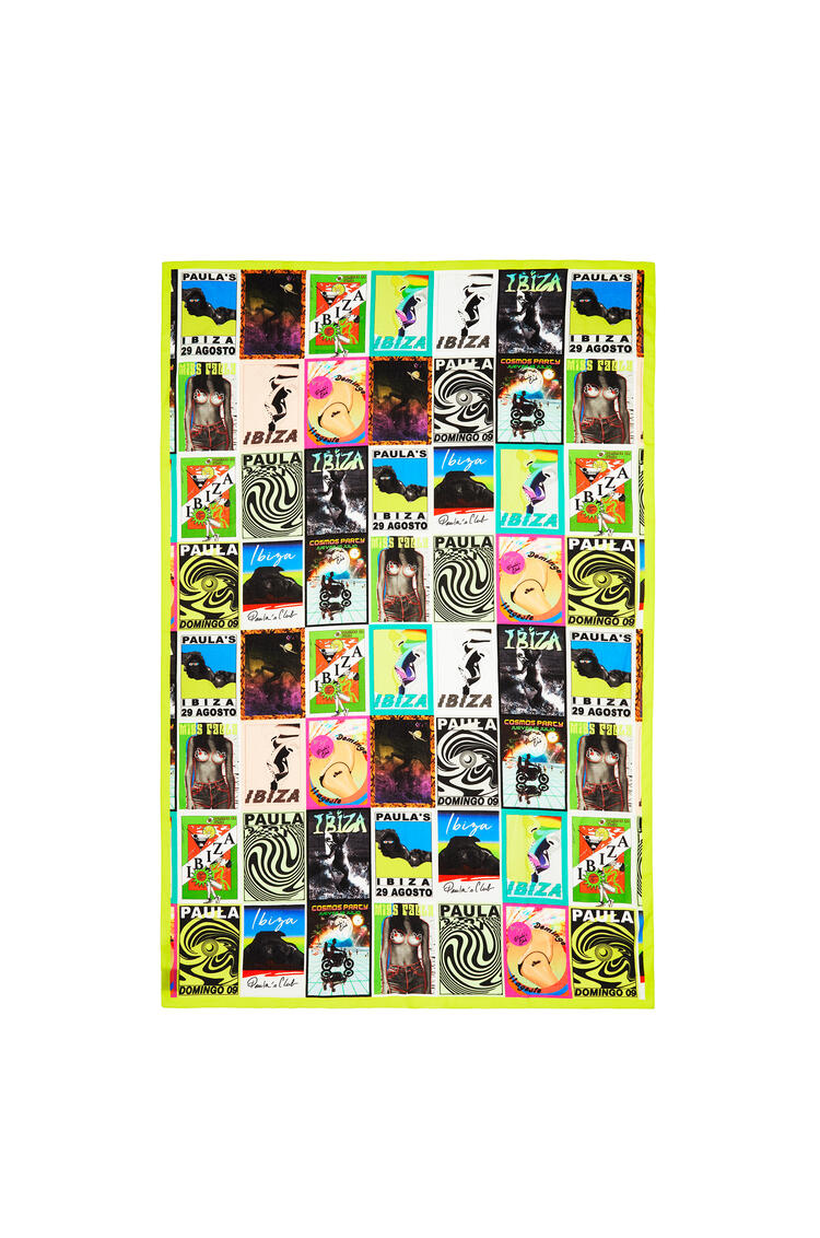 LOEWE 110 cm x 170 cm pareo in cotton with club flyer motif Multicolor pdp_rd