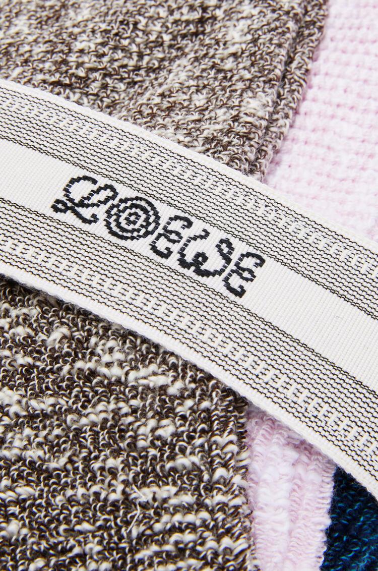 LOEWE Knitted cotton socks Multicolor pdp_rd