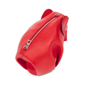 LOEWE Elephant Mini Bag Scarlet Red front