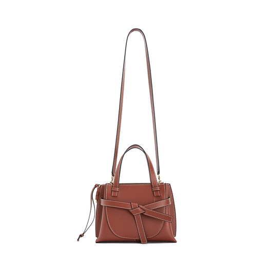LOEWE Gate Top Handle Mini Bag Rust Color front