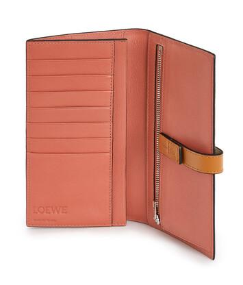 LOEWE Large Vertical Wallet Light Oat/Honey front