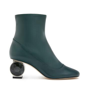 LOEWE Strass Heel Boot 55 Dark Green front