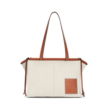 LOEWE Cushion Tote Bag Light Oat front