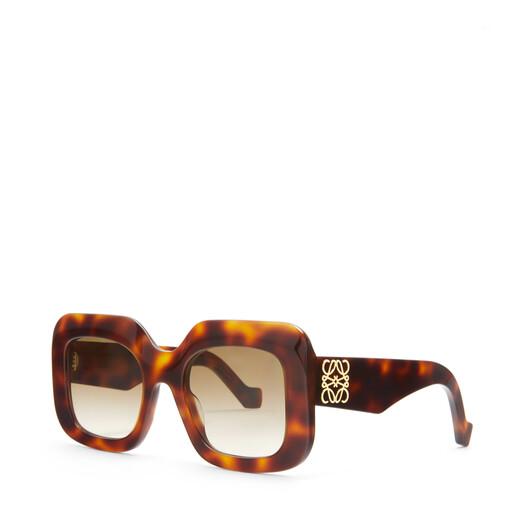 LOEWE Acetate Rectangular Sunglasses Havana front