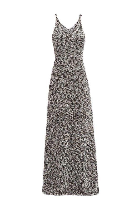 LOEWE Lurex Knit Dress ライトグレイ front
