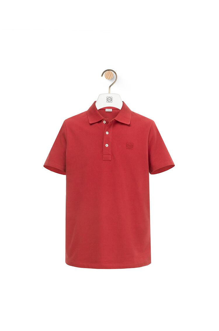 LOEWE Polo Anagrama en algodón Rojo pdp_rd