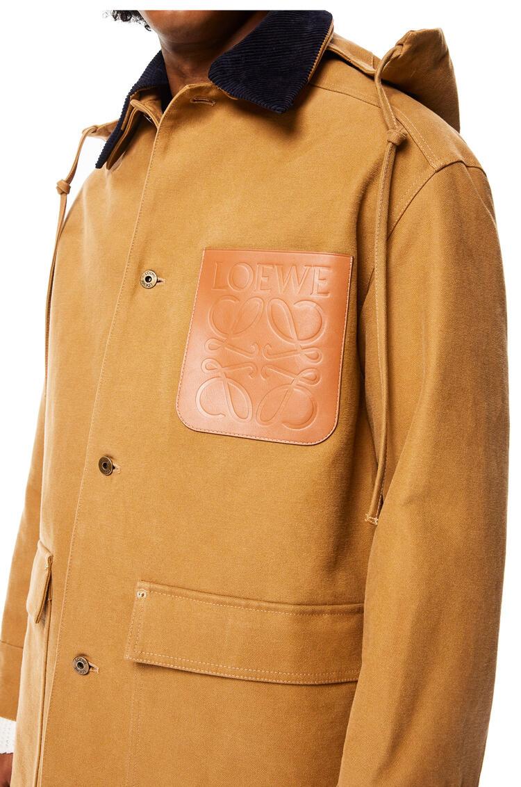 LOEWE Hooded workwear jacket in cotton Camel pdp_rd