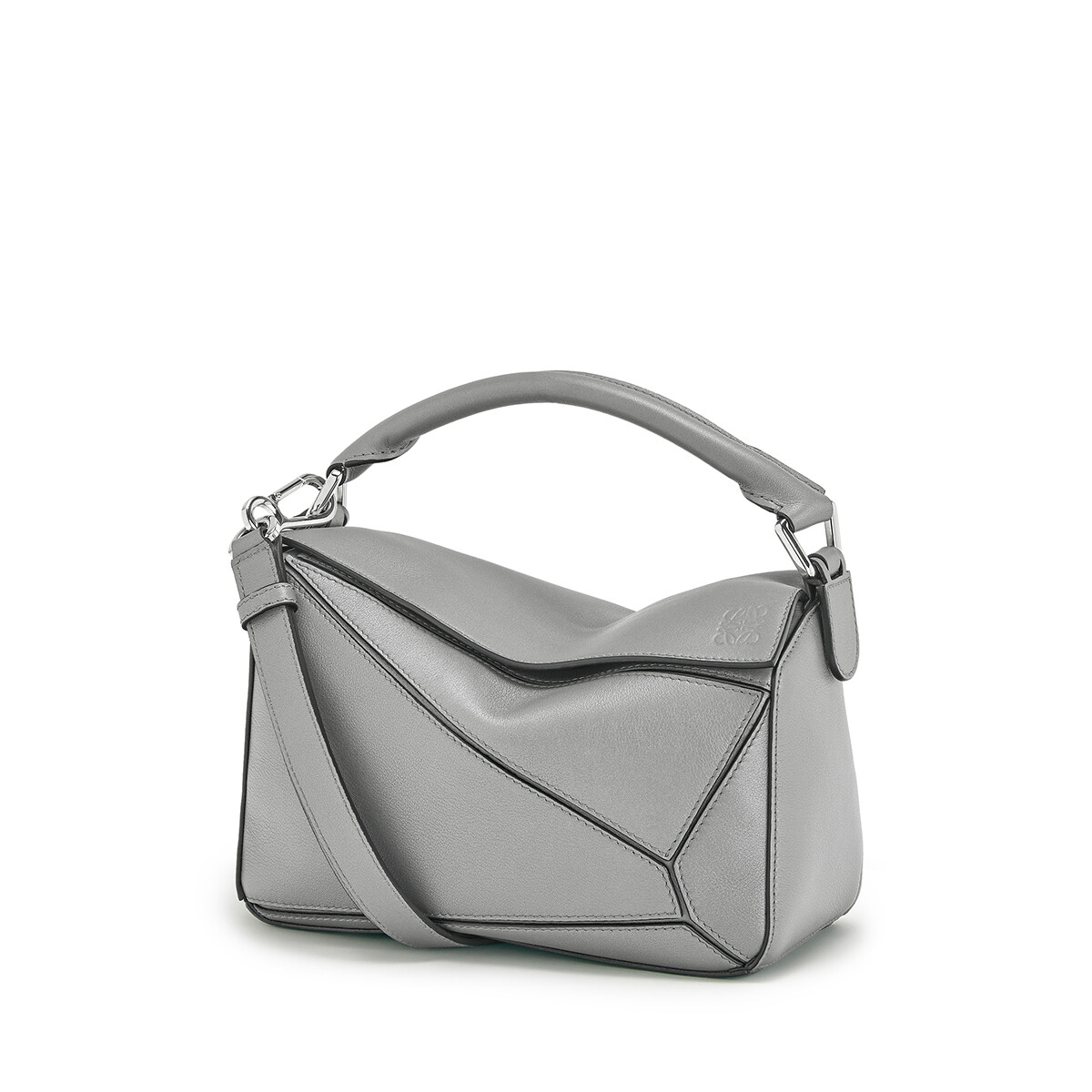 LOEWE Puzzle Small Bag 鐵灰 front