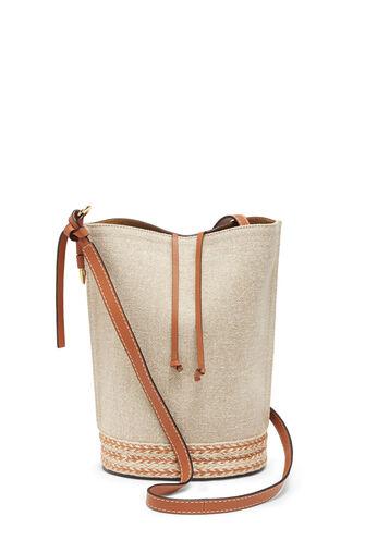 LOEWE Gate Bucket Espadrillas Bag 棕色 front
