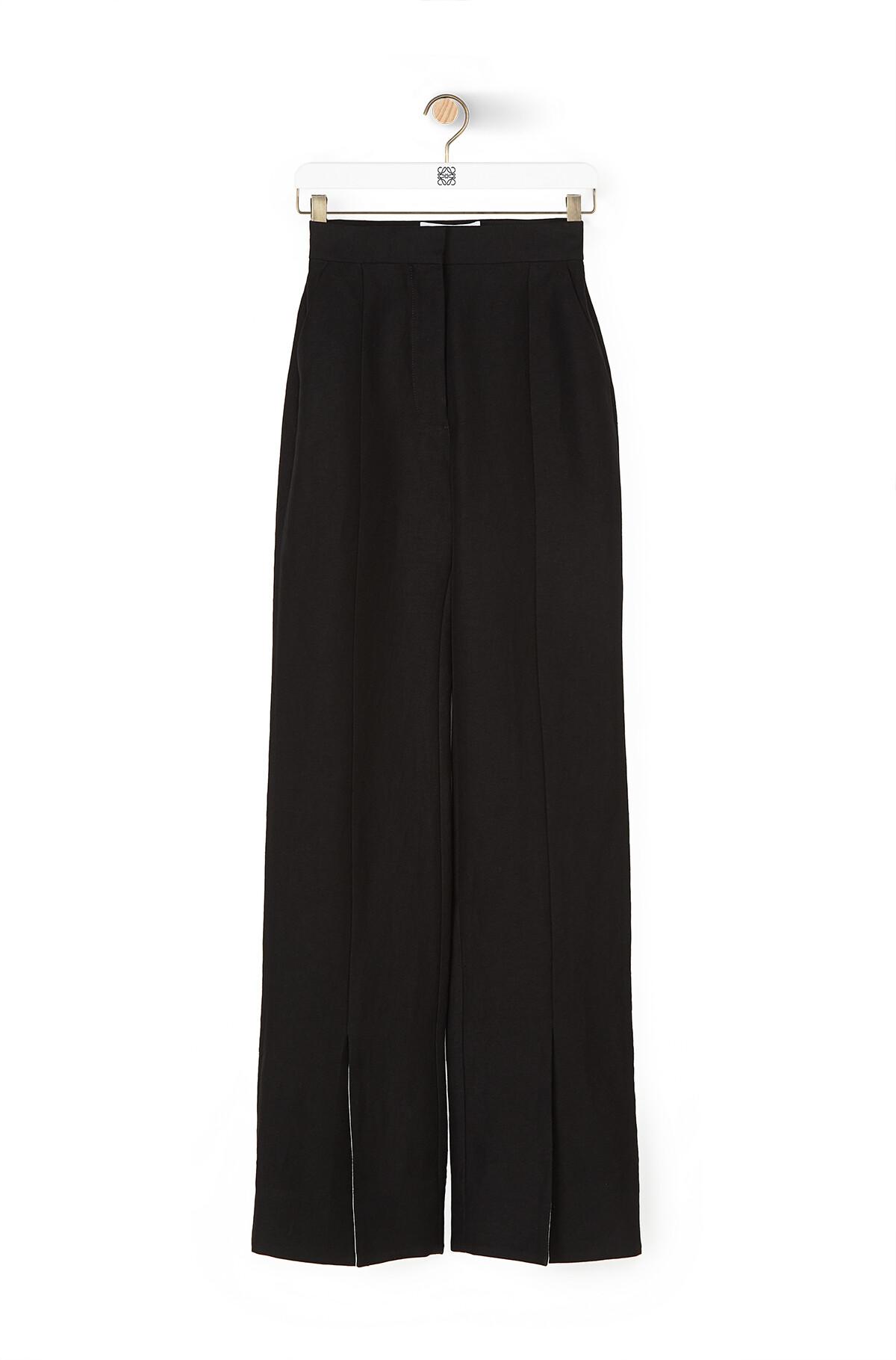 LOEWE Slit Trousers Black front