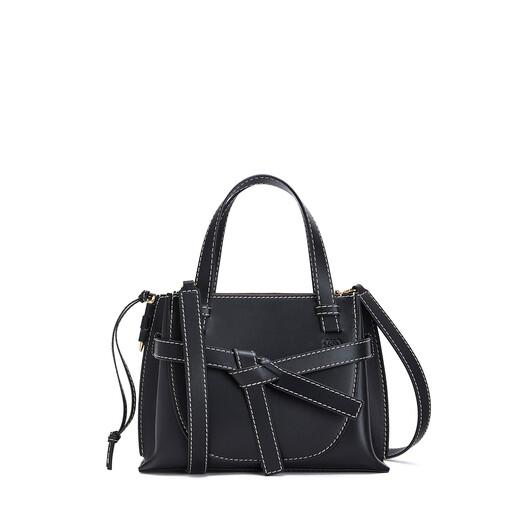 LOEWE Gate Top Handle Mini Bag 黑色 front