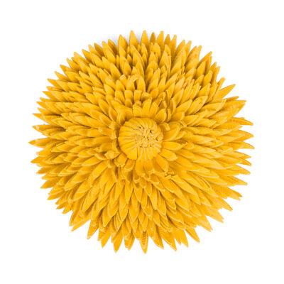 LOEWE Calendula Flower Brooch Yellow front