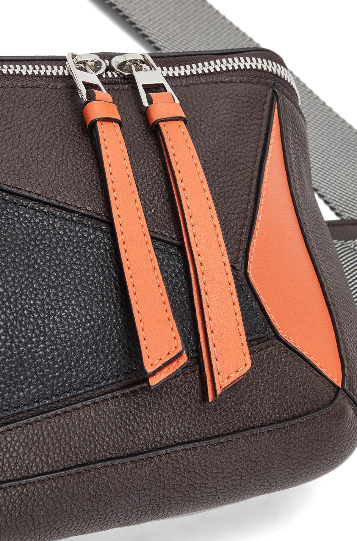 LOEWE Puzzle Sling Chocolate Brown/Orange front