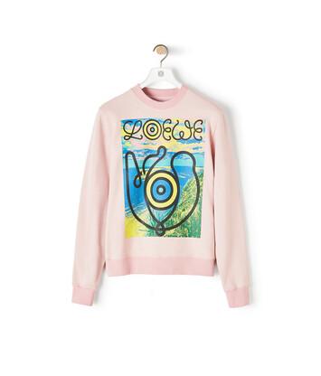 LOEWE Eye Loewe Sweatshirt Rosa Bebe front