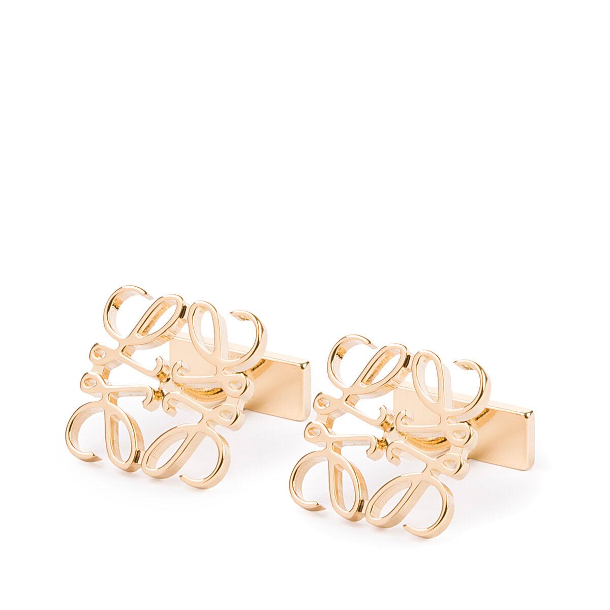 LOEWE Anagram Cufflink Gold all