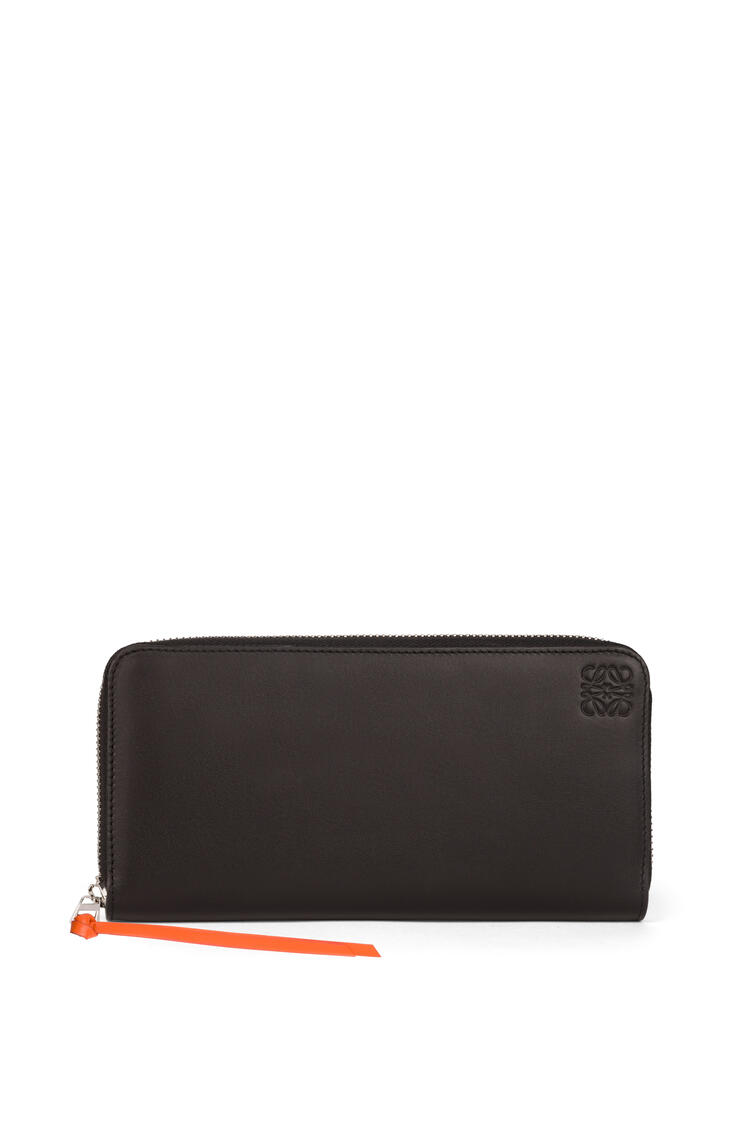 LOEWE Cartera Zip around arcoiris en piel de ternera suave Multicolor/Negro pdp_rd