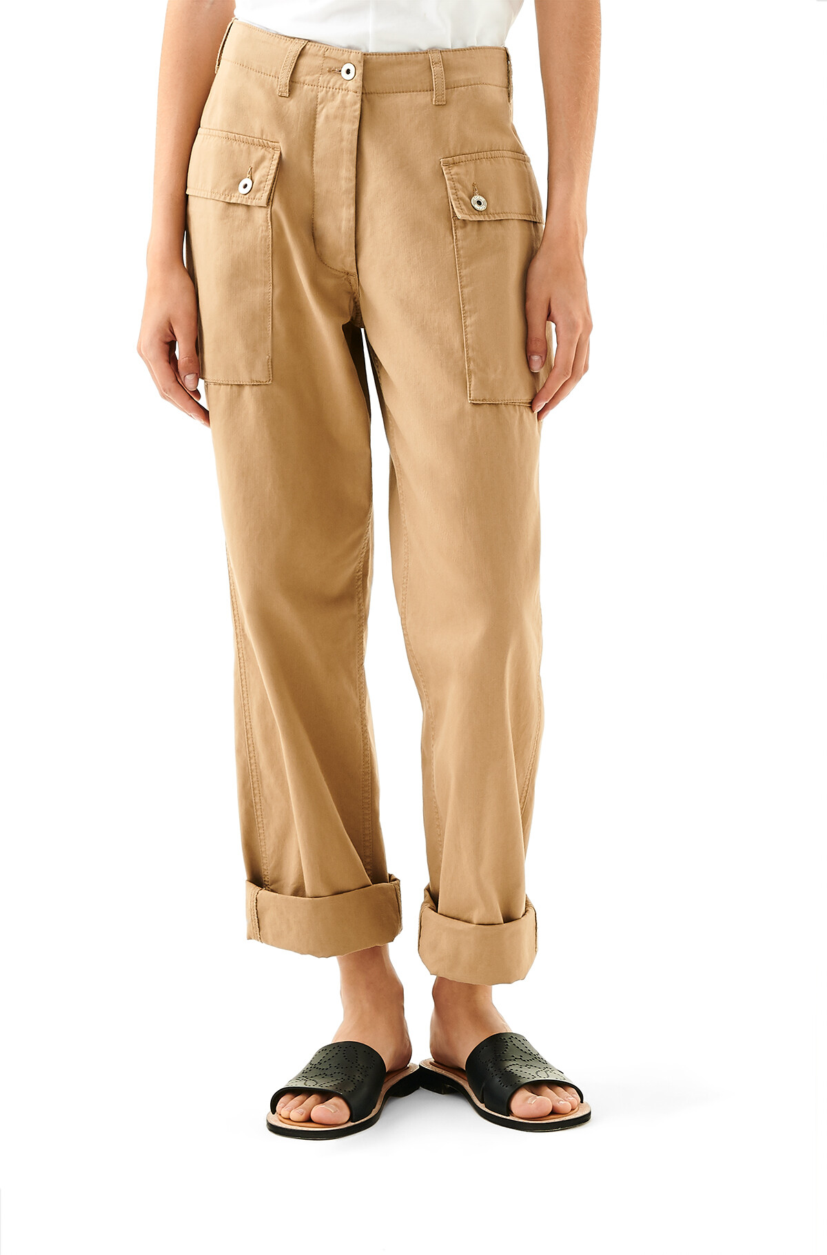LOEWE Cargo Trousers 米色 front