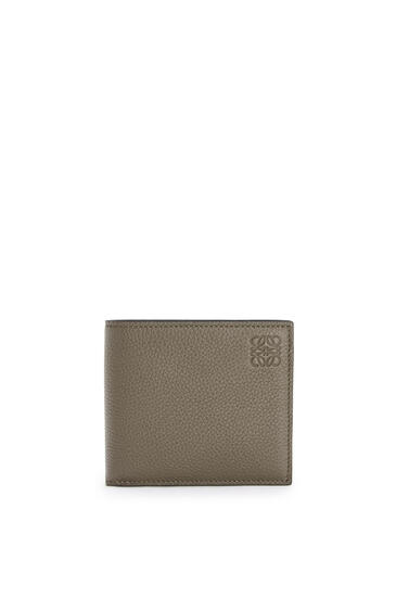 LOEWE Bifold wallet in soft grained calfskin Dark Moss pdp_rd