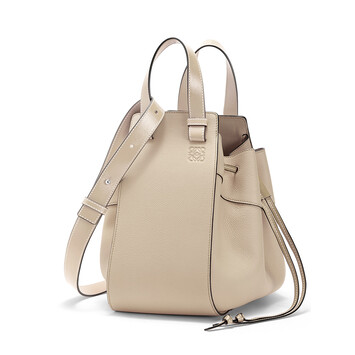 LOEWE Hammock Drawstring Medium Bag Light Oat front