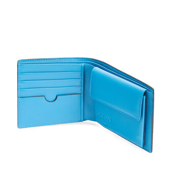 LOEWE メイズバイフォルドコインウォレット Midnight Blue/Fluo Blue front