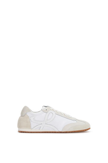 LOEWE Ballet Runner In Leather And Nylon White/Off-white pdp_rd