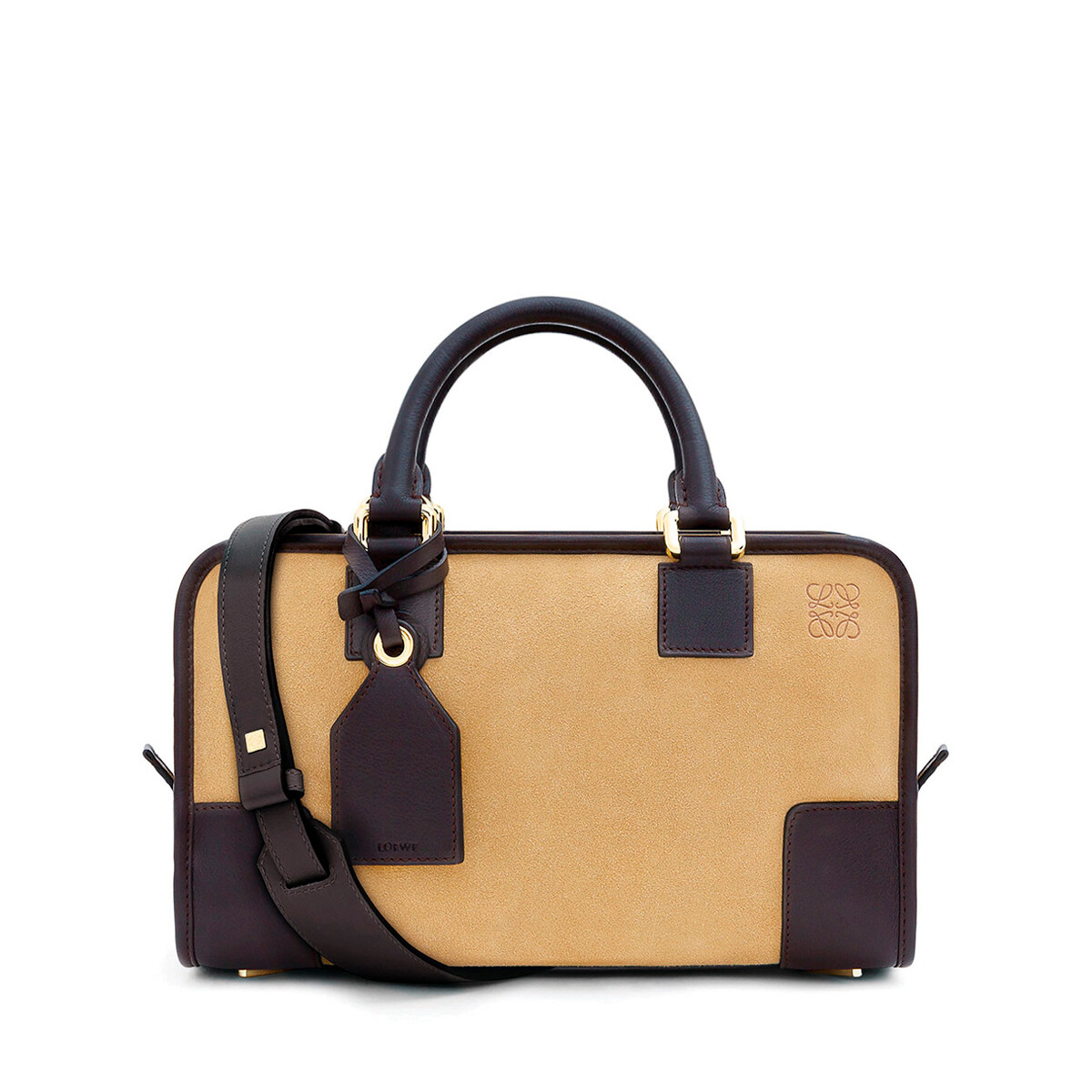 LOEWE Amazona 28 Bag Gold/Brown front