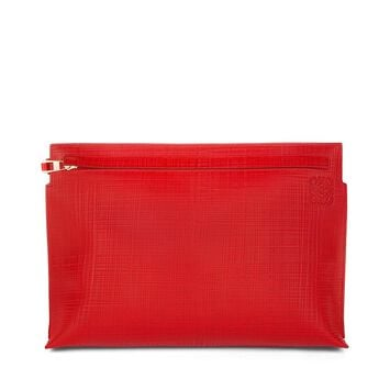 LOEWE T Pouch Linen Primary Red front