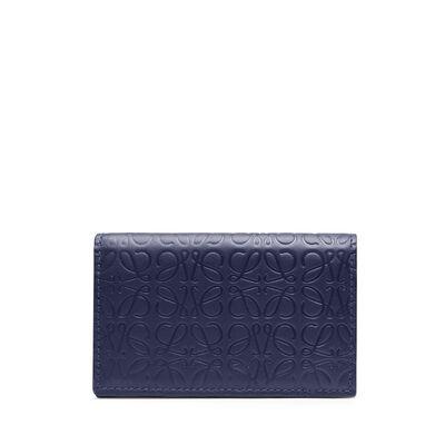 LOEWE Business Card Holder Navy Blue front