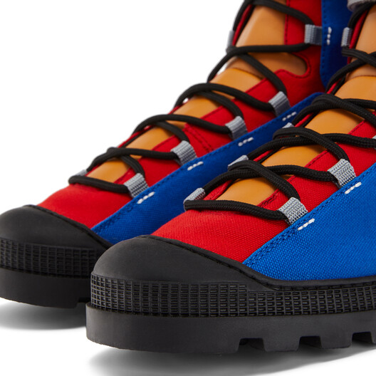 """LOEWE """"EYE""""自然登山靴 Blue/Toffee front"""