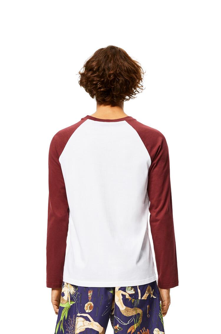 LOEWE Baseball T-shirt In Cotton White/Brown pdp_rd