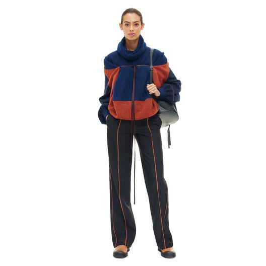 LOEWE Cape Sleeve Sweater Gris/Naranja/Azul all