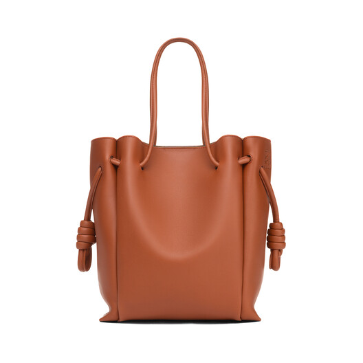 LOEWE Flamenco Knot Tote Small Bag Rust Color front