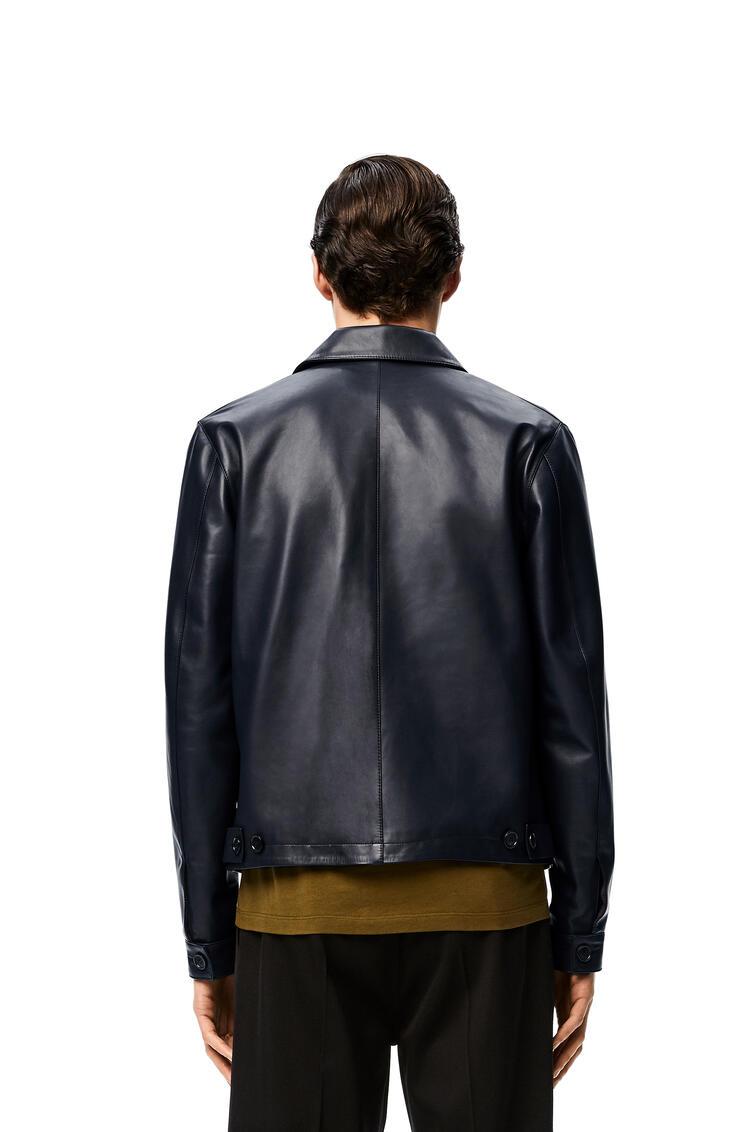 LOEWE Zip jacket in nappa Navy Blue pdp_rd