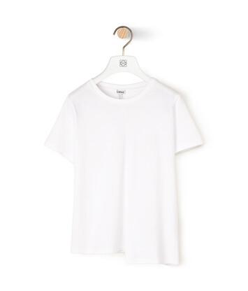 LOEWE Anagram不对称T恤 白色 front