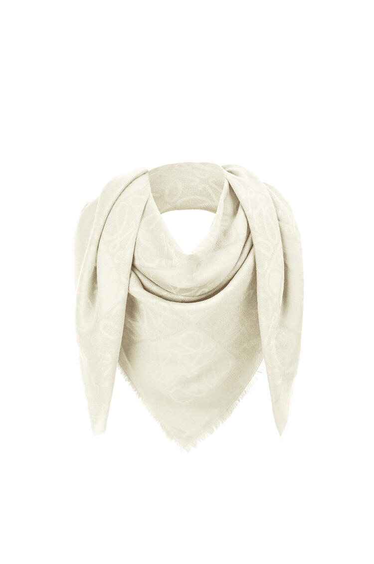 LOEWE Damero scarf in wool, silk and cashmere Off-white pdp_rd
