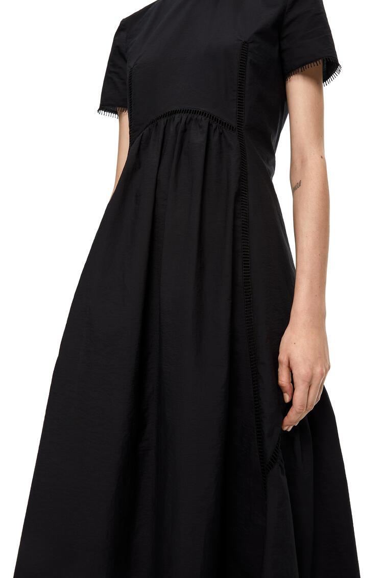 LOEWE Short sleeve dress in cotton Black pdp_rd