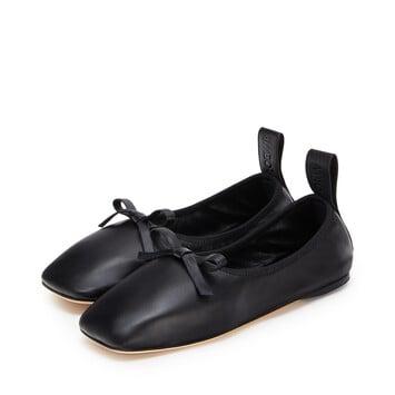 LOEWE Ballerina Bow ブラック front