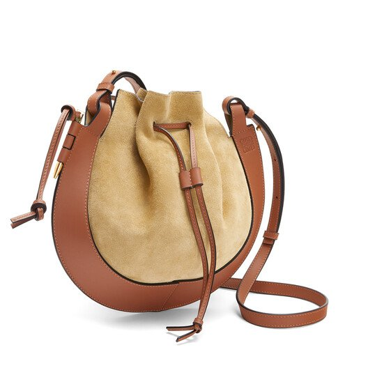 LOEWE Horseshoe Bag Gold/Tan front