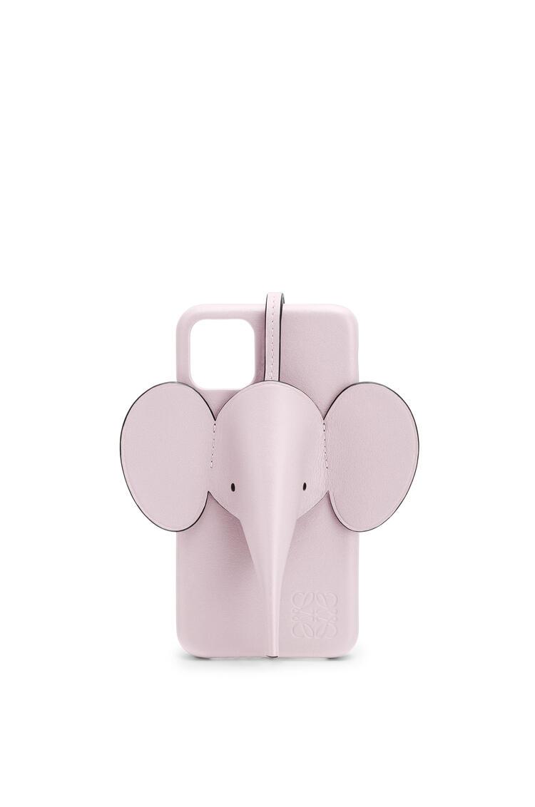 LOEWE iPhone 11用 エレファント カバー (パーライズドカーフ) Icy Pink pdp_rd
