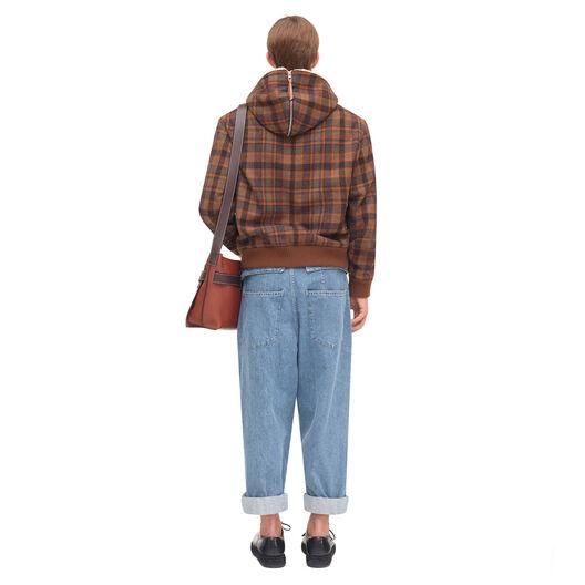 LOEWE Zipped Tartan Coat Marron/Multicolor all